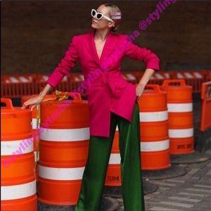 NWT Zara belted frock coat SZ XS in Women's